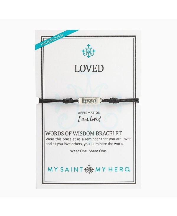 """Loved"" Words of Wisdom Bracelet"