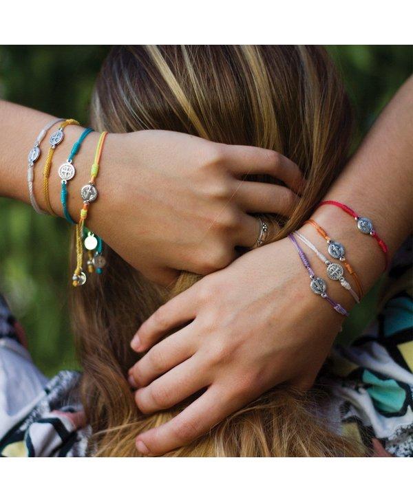 Breathe Bracelet in Metallic Silver