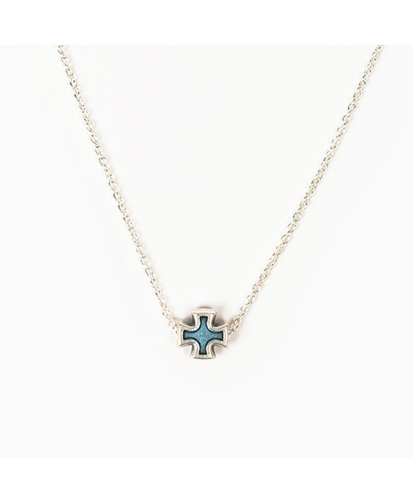 Faith Petite Necklace in Blue
