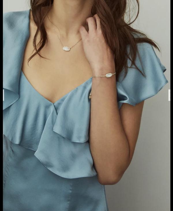 Elaina Adjustable Chain Bracelet in Platinum Drusy