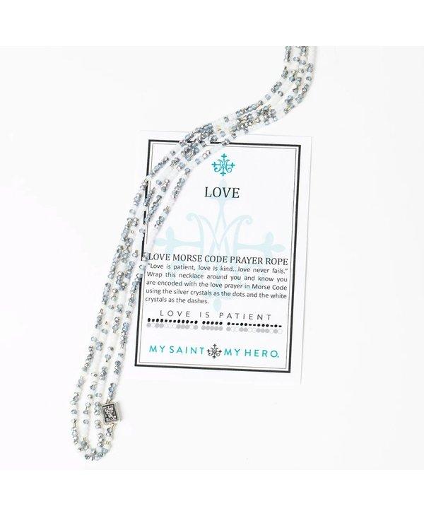 Love Morse Code Prayer Rope