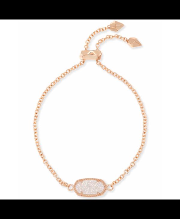 Elaina Adjustable Chain Bracelet in Iridescent Drusy