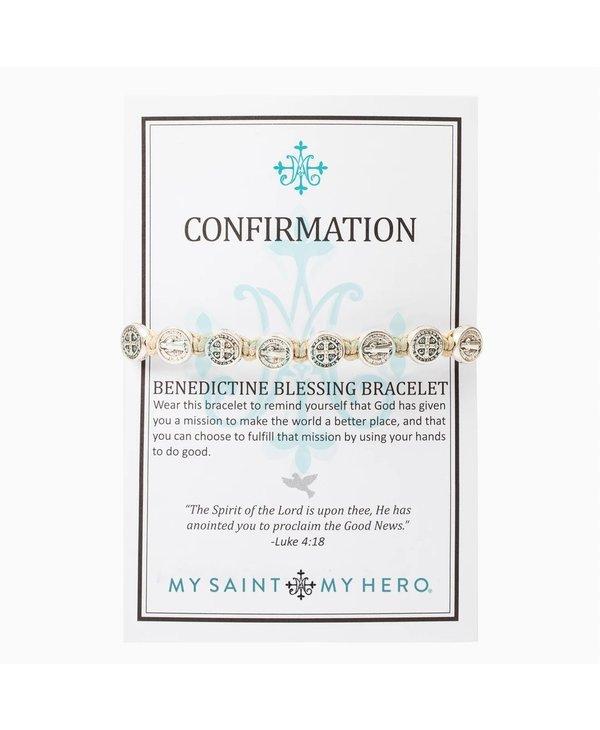 Confirmation Blessing Bracelet in Tan