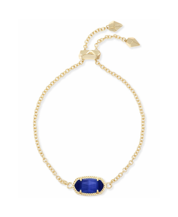Elaina Adjustable Chain Bracelet in Cobalt Cats Eye