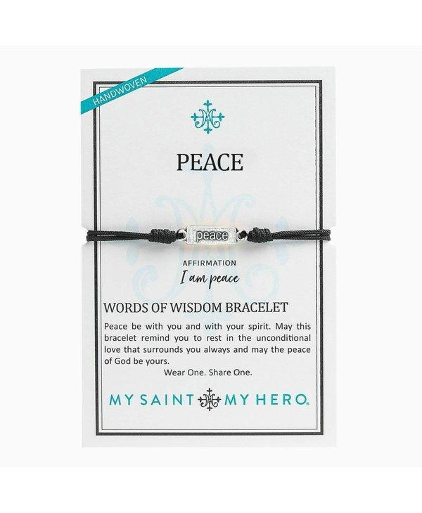 """Peace"" Words of Wisdom Bracelet"