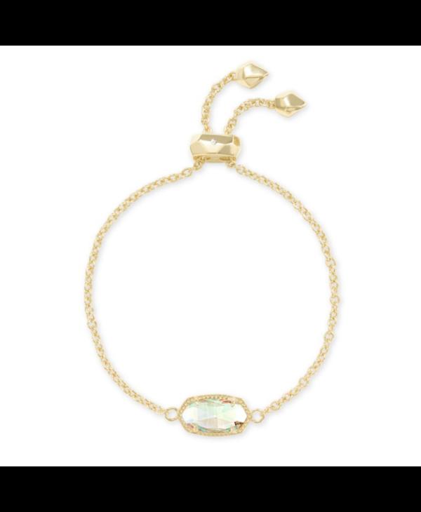 Elaina Adjustable Chain Bracelet in Dichroic Glass