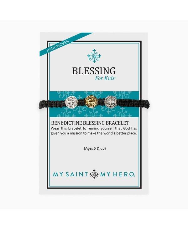 Blessing for Kids Benedictine Blessing Bracelet in Black