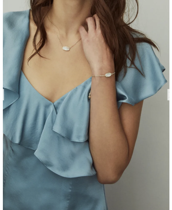 Elaina Adjustable Chain Bracelet in London Blue