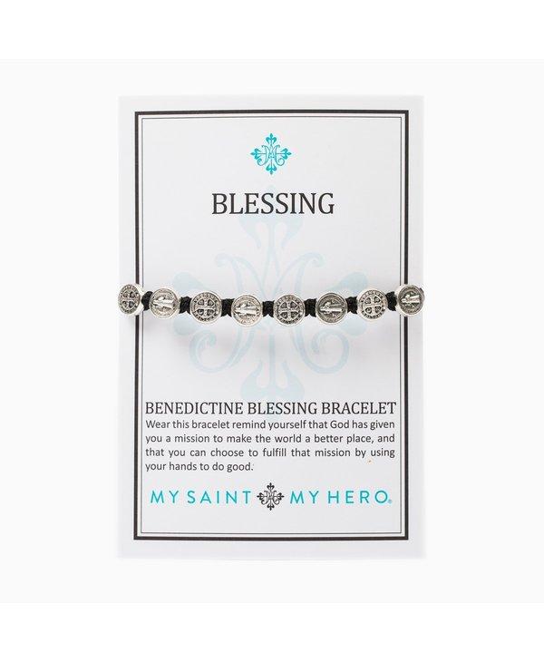 Benedictine Blessing Bracelet in Slate
