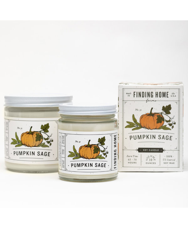 Pumpkin Sage Boxed Candle