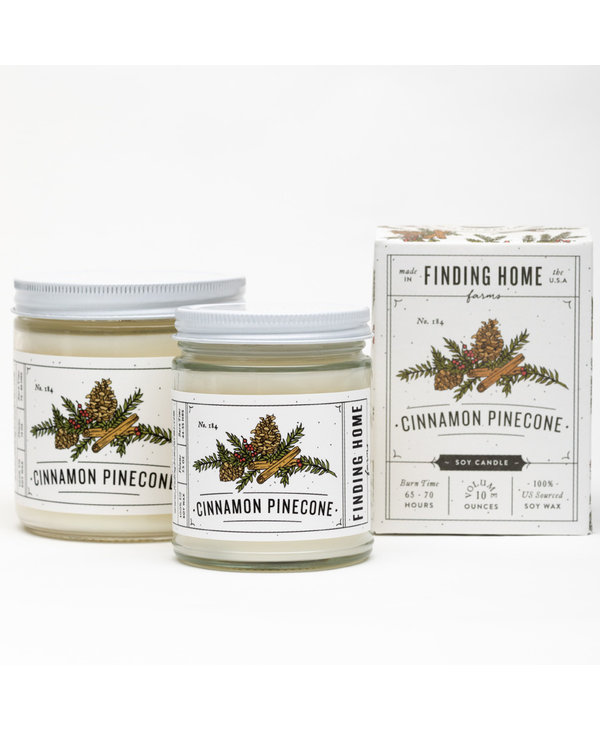 Cinnamon Pinecone Boxed Candle