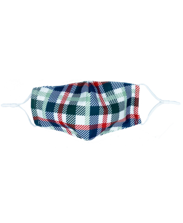 Red & Green Plaid Mask