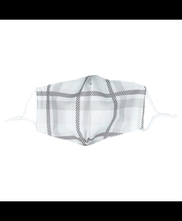 Grey Plaid Mask