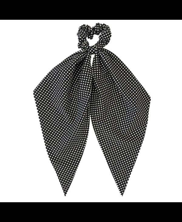 Black Polka Dot Darling Scrunchie