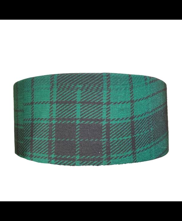 Green Plaid Tube Turban