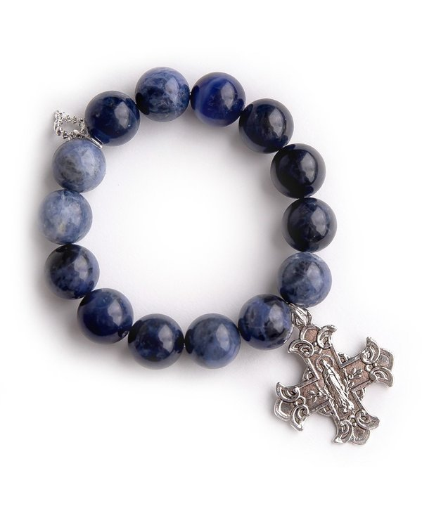 Sacred Heart Cross Bracelet