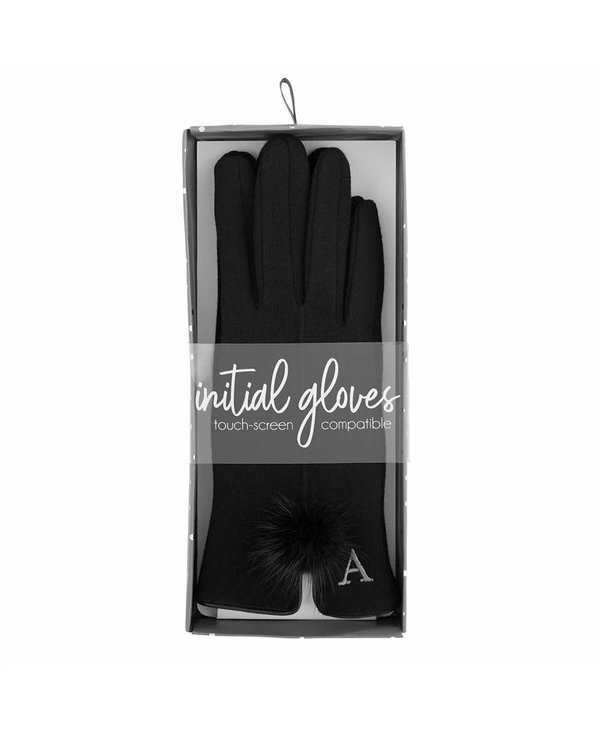 Initial Knit Poof Gloves