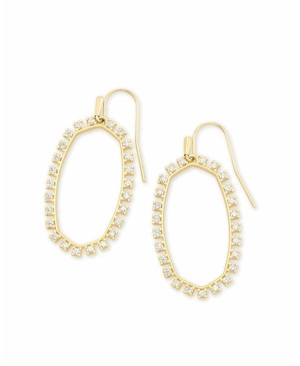 Elle Open Frame Crystal Drop Earring