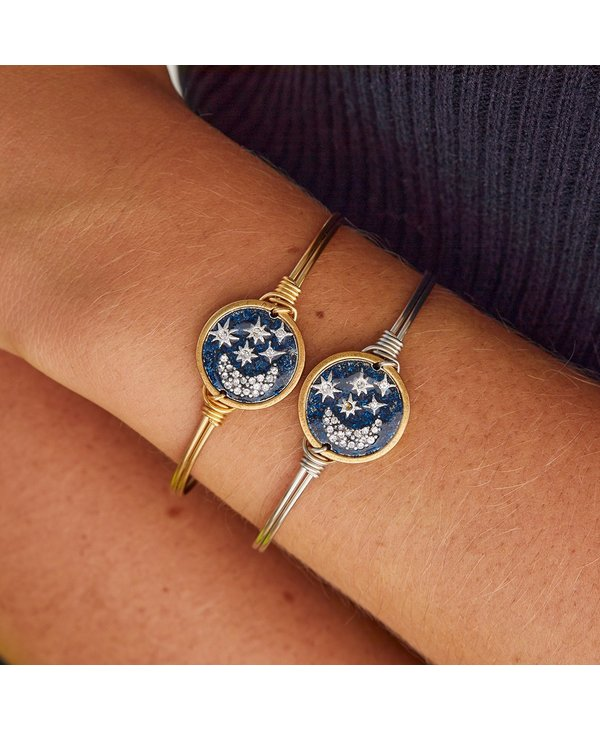 Starry Night Bangle Bracelet in Gold