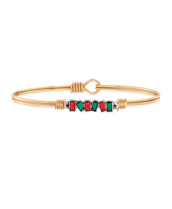 Mini Hudson Bangle Bracelet Holiday Cheer in Gold