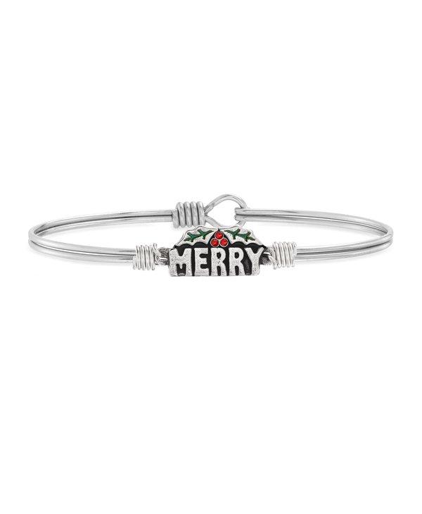 Merry Bangle Bracelet in Silver