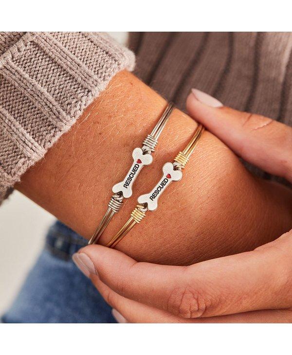 Animal Rescue Bangle Bracelet in Gold