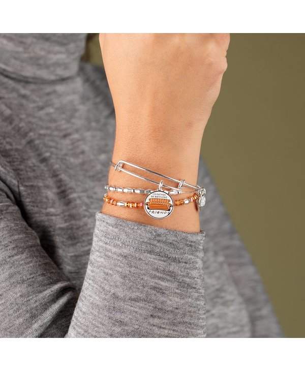 'I'd Rather Be Watching Friends' Couch Charm Bangle Set of 3