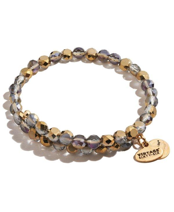 Bronze Glam Beaded Wrap Bracelet