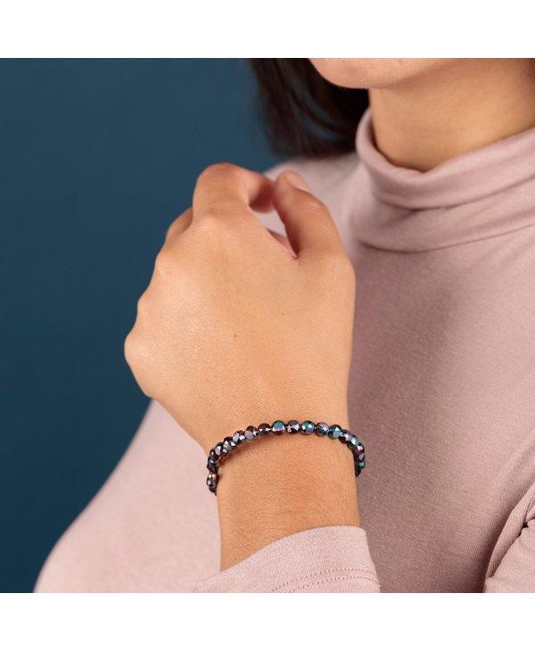Plum Glam Beaded Wrap Bracelet