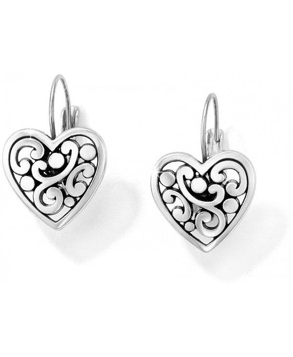 Contempo Heart Leverback Earrings