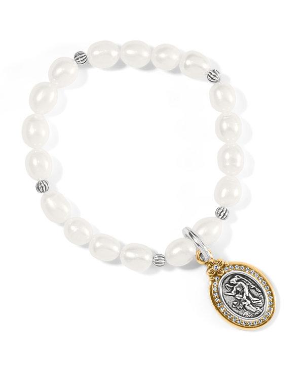 Guardian Angel Pearl Stretch Bracelet