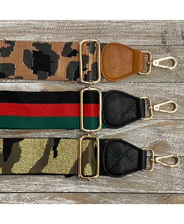Vegan Leather End Bag Strap - Gold Hardware