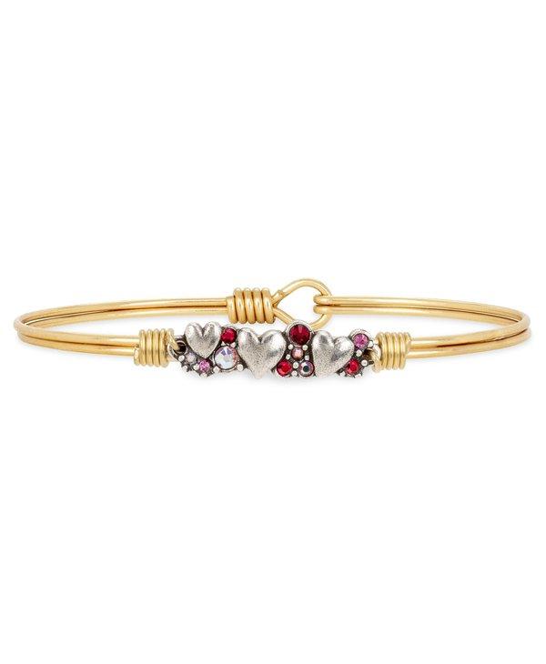 Heart Medley Bangle Bracelet in Gold