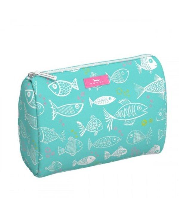 Packin' Heat Makeup Bag in Rainbow Fish