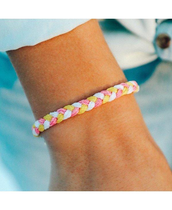 Strawberry Lemonade Multi Braided Bracelet