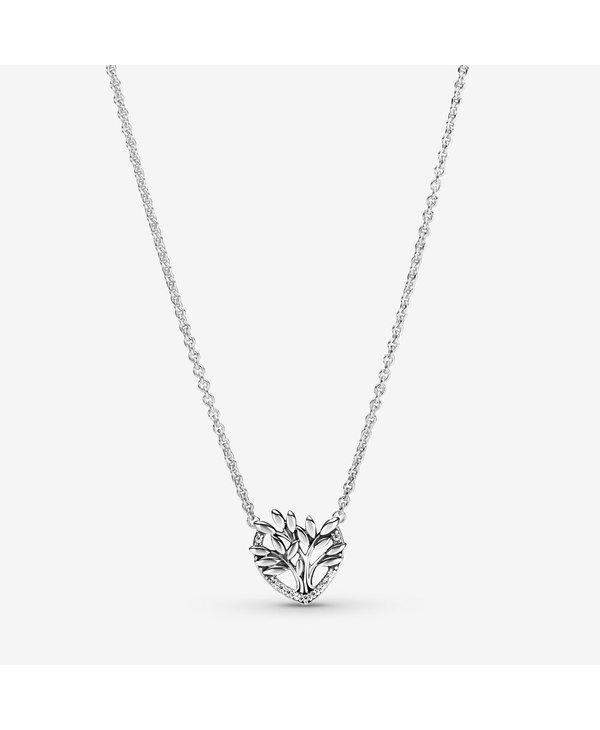 PANDORA Heart Family Tree Collier Necklace