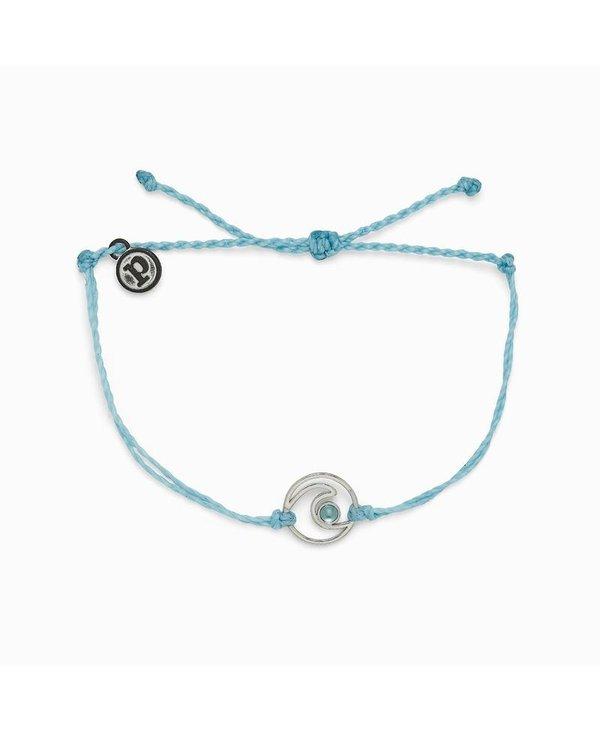 Shimmering Wave Charm Bracelet