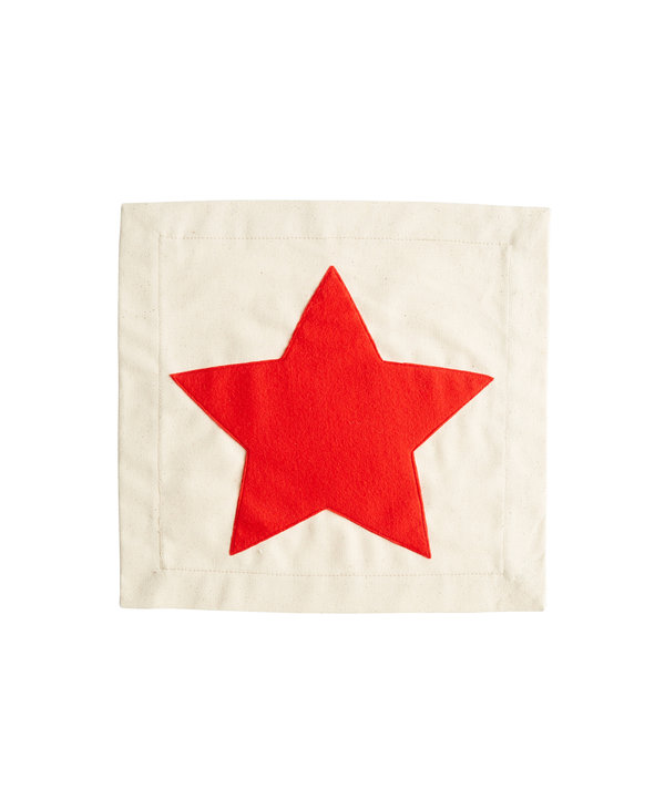 Red Star Pillow Panel