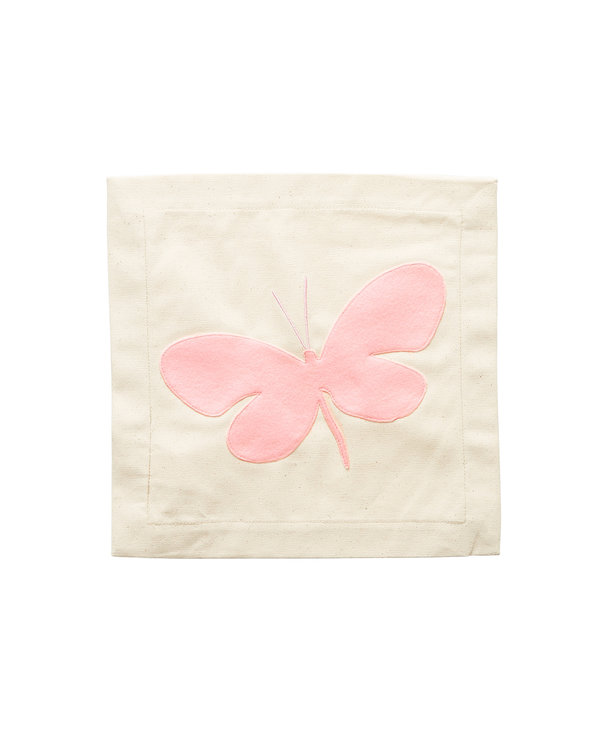 Pink Butterfly Pillow Panel