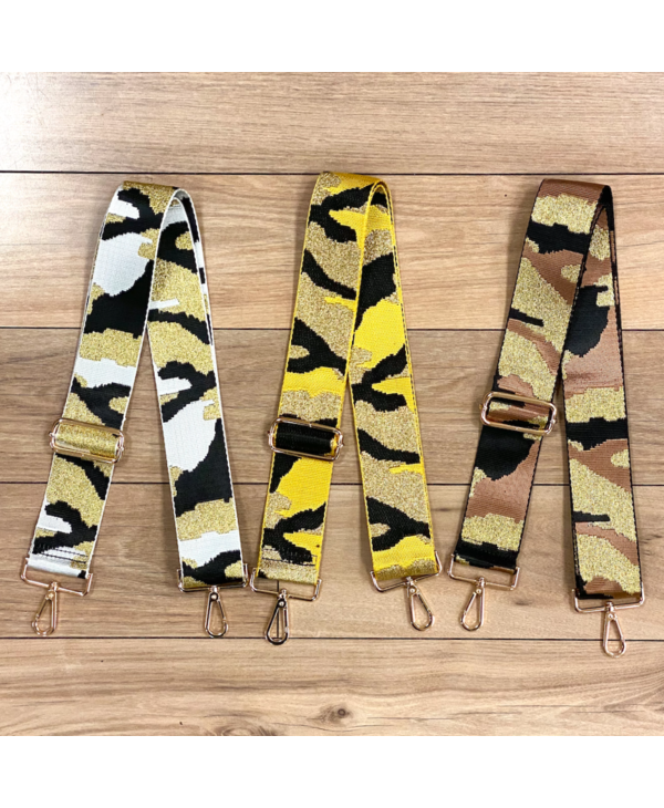 Camouflage Bag Strap - Gold Hardware
