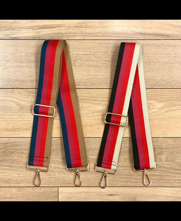 Four Stripe Bag Strap - Gold Hardware