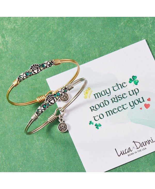 Irish Medley Bangle Bracelet in Silver