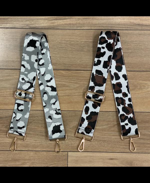 Leopard Print Bag Strap - Gold Hardware