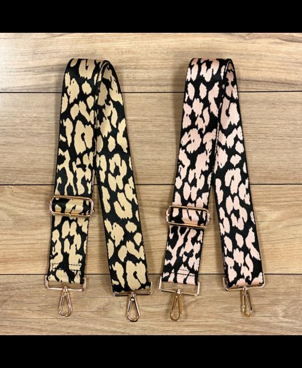 Animal Print Bag Strap - Gold Hardware