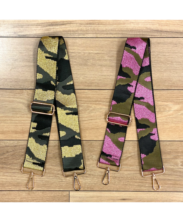 Camouflage Bag Strap - Gold Hardware