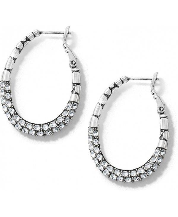 Pebble Pave Hoop Earrings