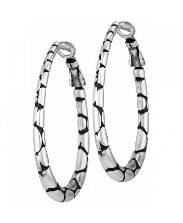 Pebble Oval Hoop Earrings