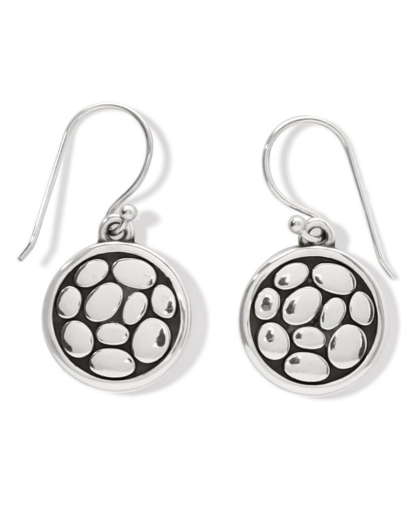 Pebble Round Reversible French Wire Earrings