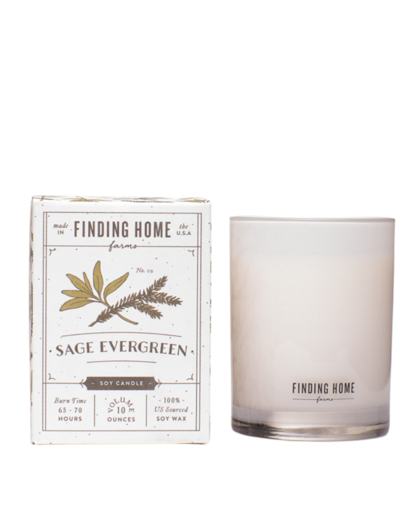 Sage Evergreen Boxed Candle