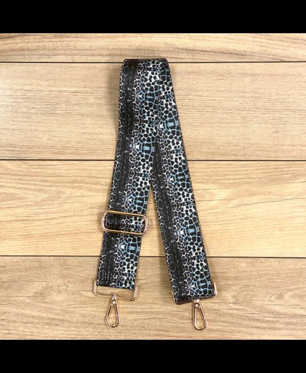 Cheetah Print Bag Strap - Gold Hardware